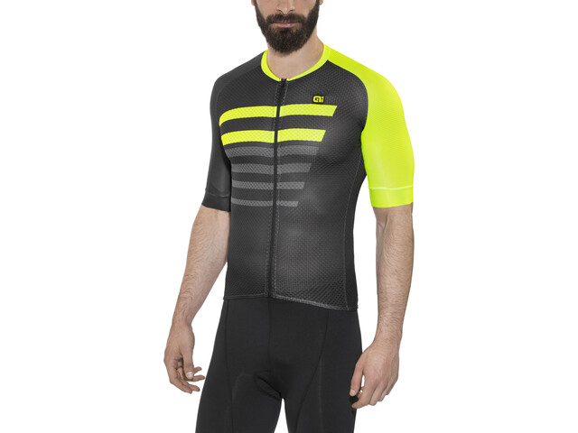 Alé Cycling PRR 2.0 Piuma Kurzarm Trikot Herren black-fluo yellow